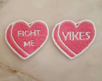 custom candy hearts patch !