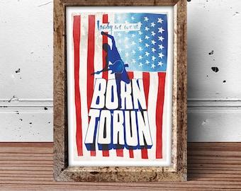 Bruce Springsteen Born To Run Inspired Music Art Print