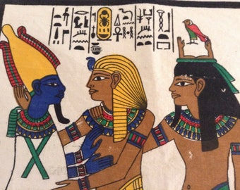 "Egyptian Tapestry / ""Burial Chamber in the Tomb of Tut Ankh"""