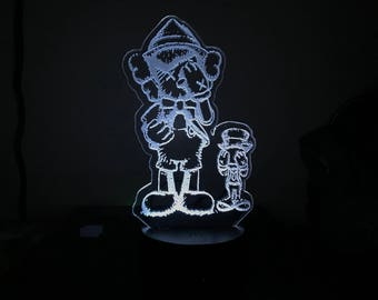 "Custom ""3D Illusion"" Acrylic LED Lamp"