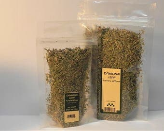 Damiana Leaf cut and sifted - 1 ounce - BUY 2 get 4FREE - Turnera Diffusa - herbal tea