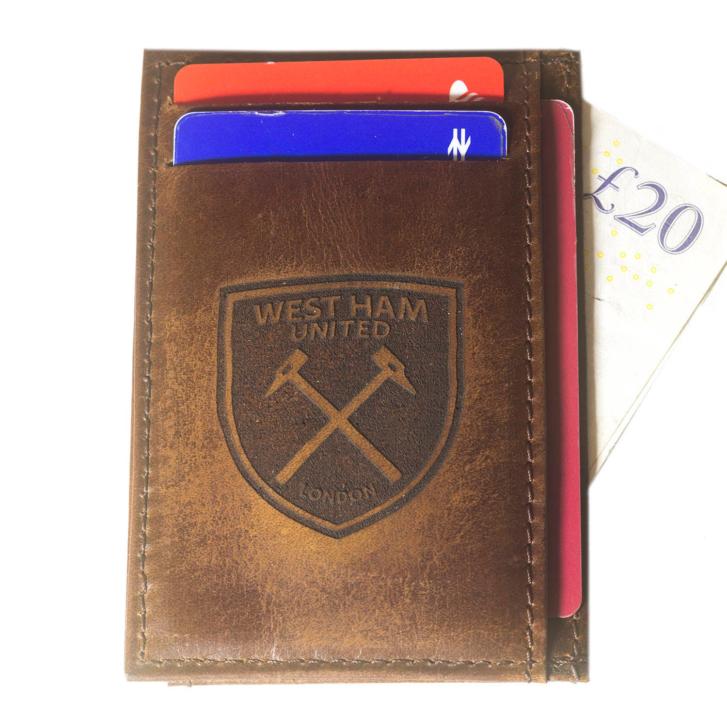 West ham fc real leather credit id business card holder oyster west ham fc real leather credit id business card holder oyster football club westham united colourmoves