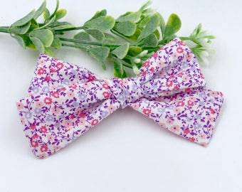 Baby Girl classic Bow Headband - Hair clips- Nylon Headbands - Infant / Toddler /  Fabric Hair Bows - pink / purple - spring sprinkle
