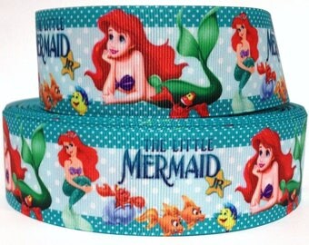 "Grosgrain Ribbon 7/8""  Little Mermaid Princess Ariel MD1 USA SELLER"