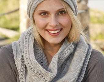 Knitted hat and neck warmer