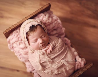 MAUVE Thin and thick mini blanket/mauve blanket/basket stuffer/bump blanket/Newborn Photography Props/layering blanket/photo prop/preorder