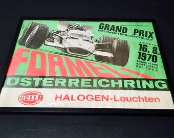 Affiche originale du Grand Prix F1 d'autriche, 1970
