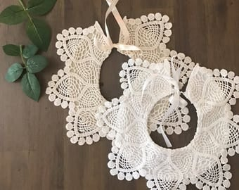 Faux Baby Collar | Lace collar | Dress up collar | baby gift | Baby Girl Collar | Faux white Collar