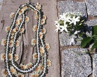 Extra Long Turkish lace necklace (double wrap)