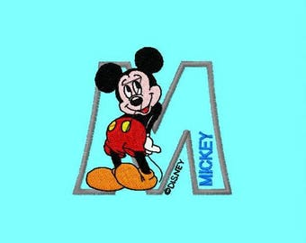 "Mickey Mouse Applique 3.37*3.13"" Machine Embroidery File children embroidery"