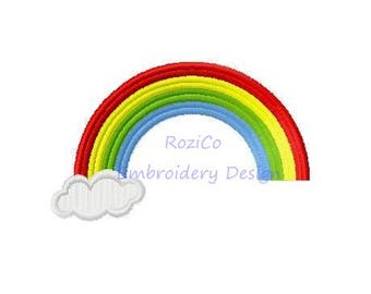 Rainbow Embroidery Design - Summer embroidery pattern - Cloud embroidery digital designs - Machine embroidery INSTANT DOWNLOAD file