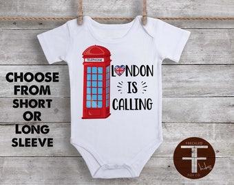 Custom baby onesie custom onesie personalized baby gift london is calling onesie london onesie london shirt england onesie england uk negle Choice Image