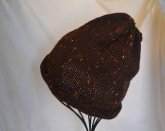 Handknit winter hat