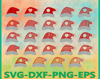 70% OFF, Christmas Hats SVG, Santa Claus Hats SVG, Christmas Hat Monogram Svg,  Christmas svg, Hats Svg, Dxf, Eps, Png files, Silhouette