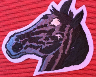 STALLION HORSE Head Patch Detailed Mint Condition WILDLIFE