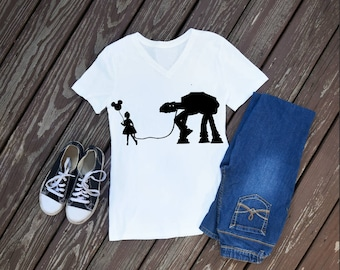 At-At Women's T-Shirt, Star Wars Shirt, Disney Shirts
