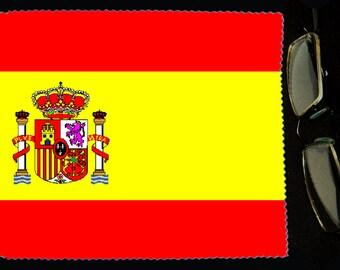 Cloth wipes Spain flag sunglasses