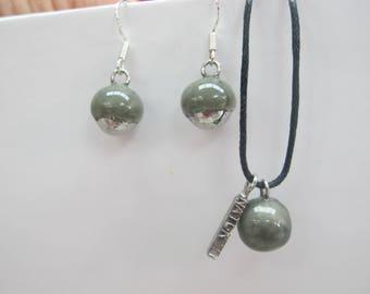 dark gray ball ceramic ornament