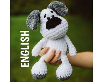 PDF Crochet Pattern ENGLISH Evis the Dog Amigurumi haekelnundkuscheln