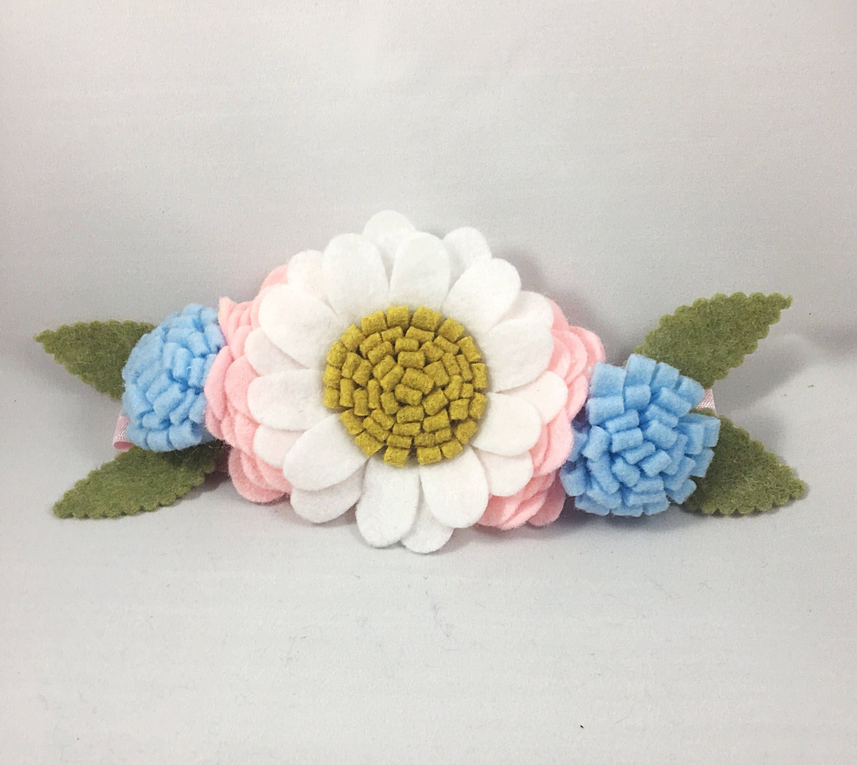 Daisy Flower Crown Felt Flowers Felt Flower Headband Felt Floral