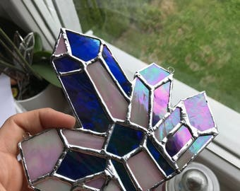 Stained Glass Crystal - Tiffany, iridescent glass