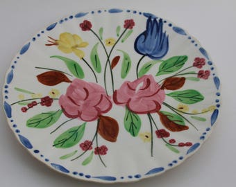 Blue Ridge Pottery Waltz Time Dinner Plate