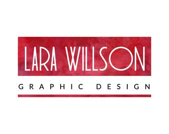 Red logo, Logo design premade, Graphic design logo, Photography logo, Red and white logo, Watercolor red logo, Custom logo, Logo set red