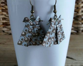 """Dress"" origami earrings"