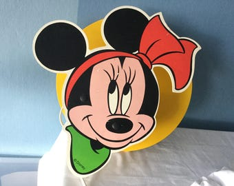 Collection of 4 Original Vintage Disney Lamps;Minnie Mouse,Mickey Mouse,Pluto,Goofy,Very Rare,Wall Hanging