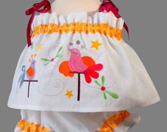 Set top and bloomers - handmade