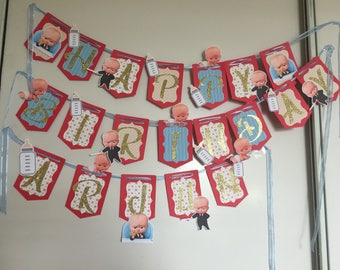 The boss baby Birthday Banner