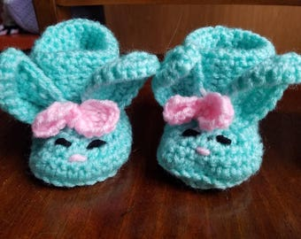Just in time for spring!  Our new bunny booties!