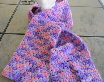 Soft Scarf - Pink and Lavendar
