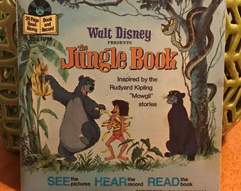 Disney The Jungle Book See The Pictures Hear The Record Read The Words