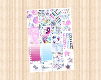NEW BRIGHT UNICORN Weekly Kit // Happy Planner // Erin Condren // Personal