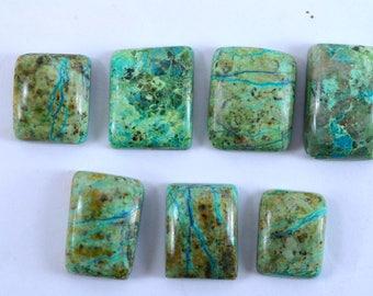 Natural Chrysocolla Rectangular shape loose semi precious gemstone cabochon size 15 To 20 mm approx wholesale gemstone GE-487