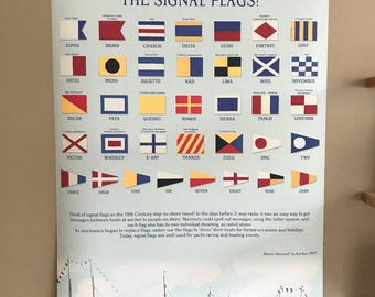 Maritime International Code Flags and Numbers Scroll Custom Made