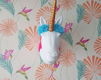 Wall hanging Unicorn head