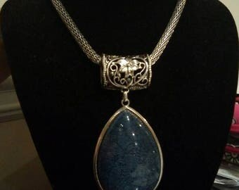 Blue Grafitti Necklace