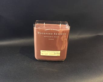 1 Liter 26oz Woodford Reserve Candle Bourbon Whiskey Bottle Soy Candle. 1 Liter vs 750ML. Made To Order !!!!!!!