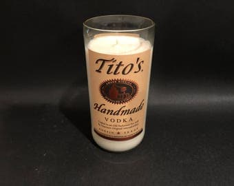 1 Liter Tito's Vodka Candle 1 Liter Vs 750ML Titos Vodka Gifts Soy Candle.Made To Order !!!!!