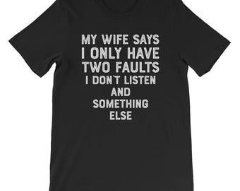 Funny husband men shirt birthday gift ideas husband t-shirt gift for husband sarcastic funny valentines funny gifts for men for my husband