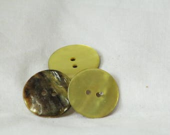 Set of 4 buttons Pearl Green 2.2 cm ref 426