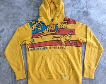 Vintage 80s Keith Haring Sweatshirt Hoodies American Pop Art Design Andy Warhol Graffiti Hip Hop Streetwear