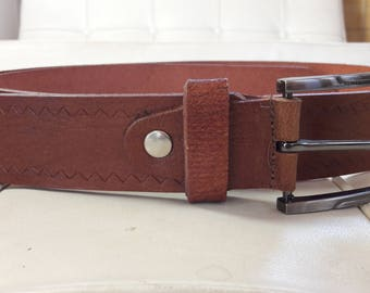 Leather Belt, Full Grain Leather Belt