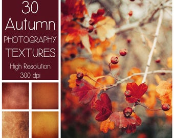 30 Autumn Textures - Fall Background - Fine Art Textures - Autumn Color - Digital Background - Photography Textures - Fall Overlays - Gold
