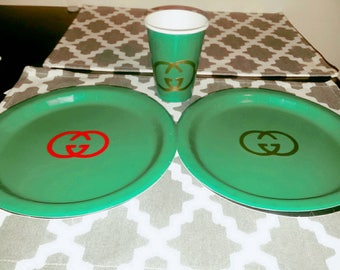 Gucci inspired  party supplies
