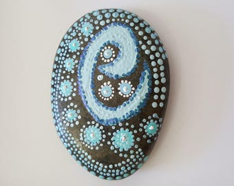 Calm, Rock Art, Painted Rock Art, Acrylic Rock Art
