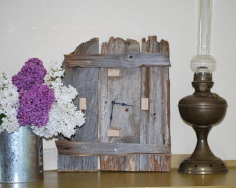 barn wood clock / reclaimed wood