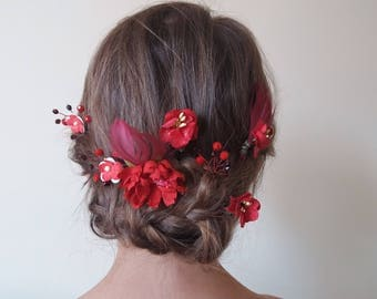 Hair Bun With Red Rose Www Picturesso Com